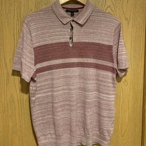 Men's Short Sleeve Red Polo Sweater